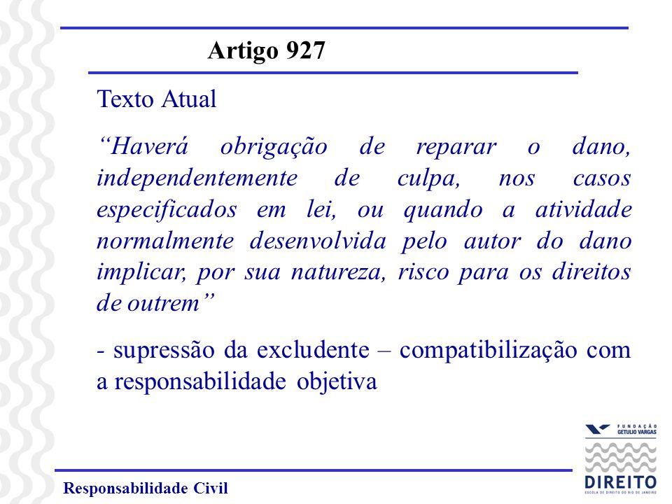 Artigo 927 Texto Atual.