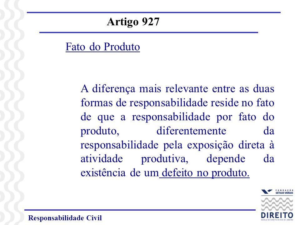 Artigo 927 Fato do Produto.