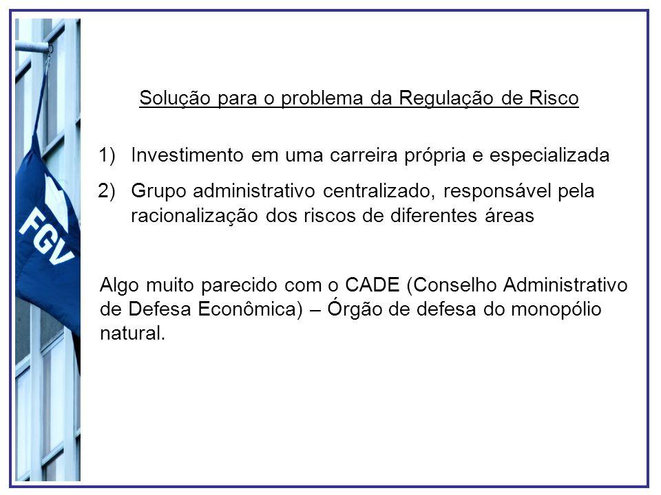 Solução para o problema da Regulação de Risco