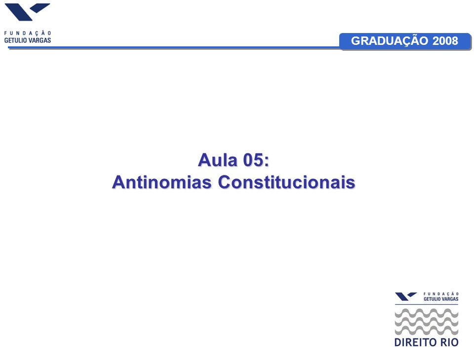 Antinomias Constitucionais