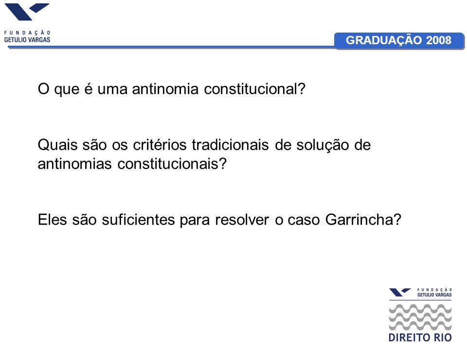 O que é uma antinomia constitucional