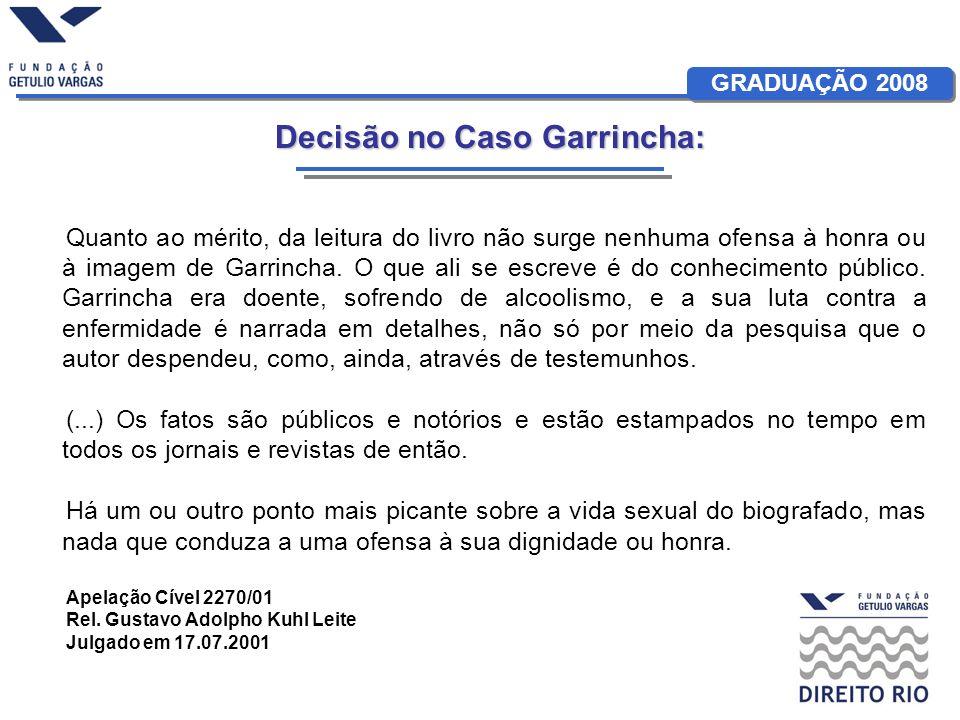 Decisão no Caso Garrincha: