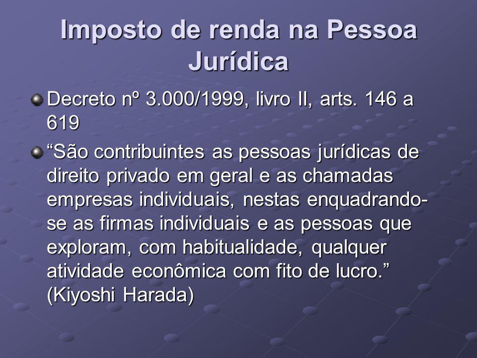Imposto de renda na Pessoa Jurídica
