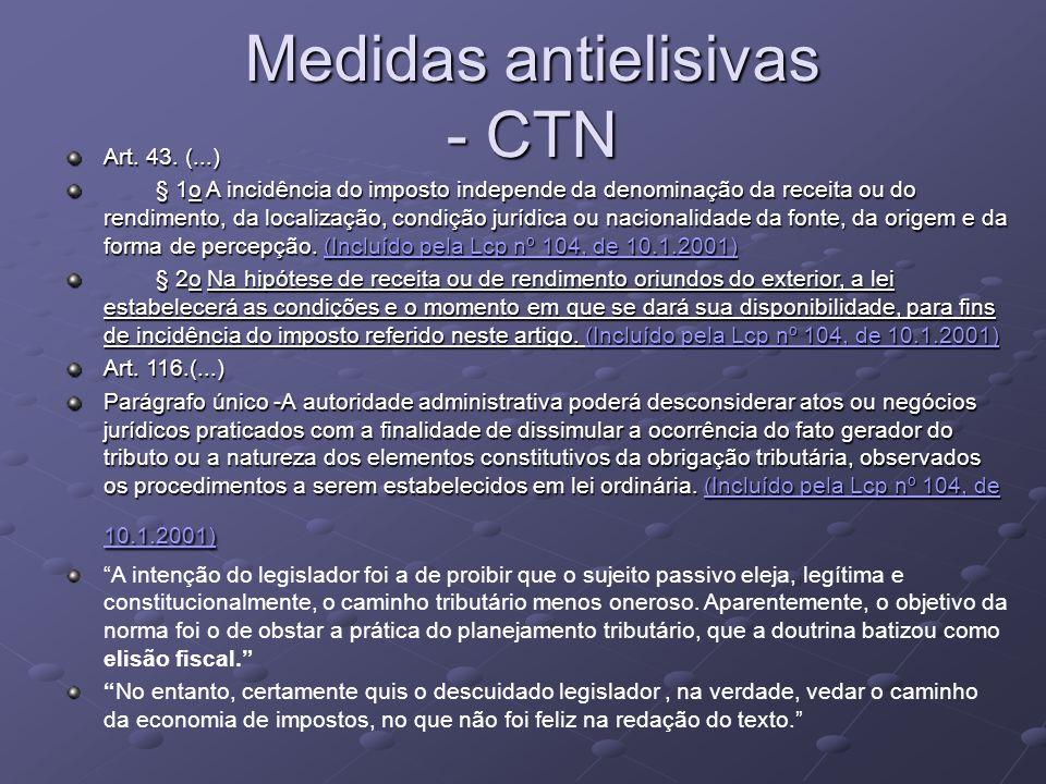 Medidas antielisivas - CTN