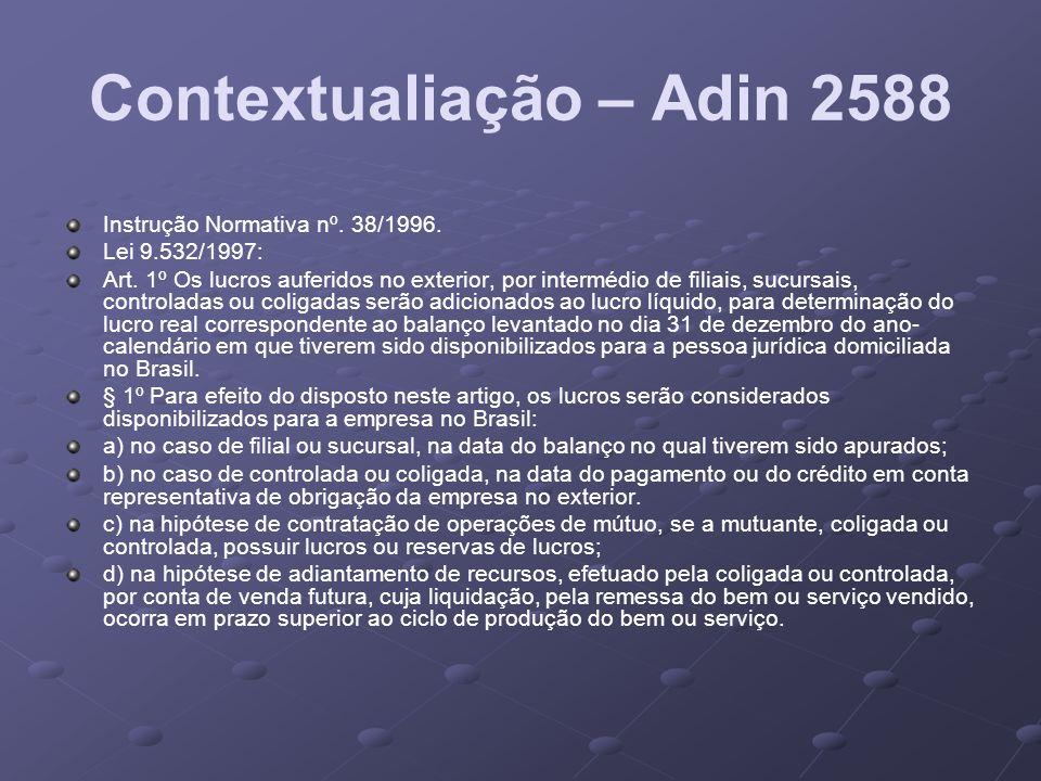 Contextualiação – Adin 2588