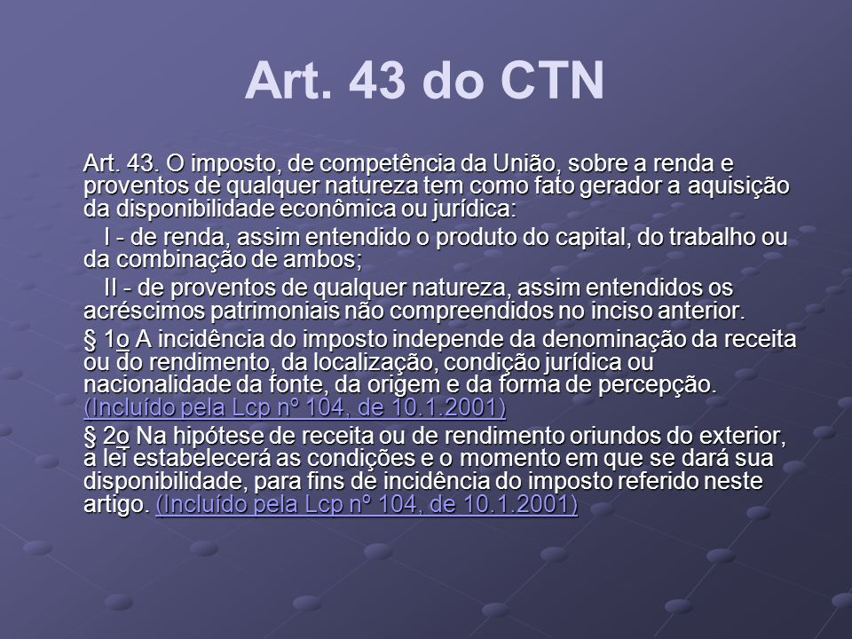 Art. 43 do CTN