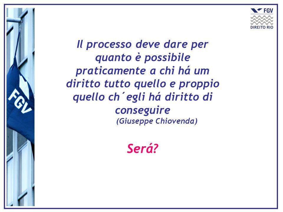 Il processo deve dare per quanto è possibile praticamente a chi há um diritto tutto quello e proppio quello ch´egli há diritto di conseguire
