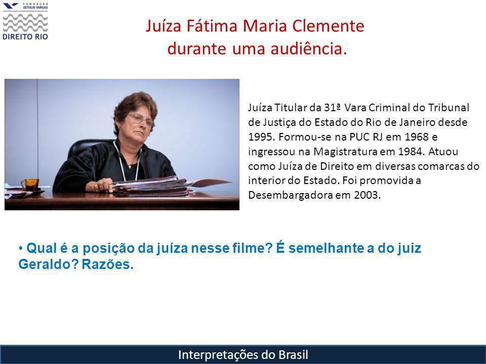Juíza Fátima Maria Clemente durante uma audiência.