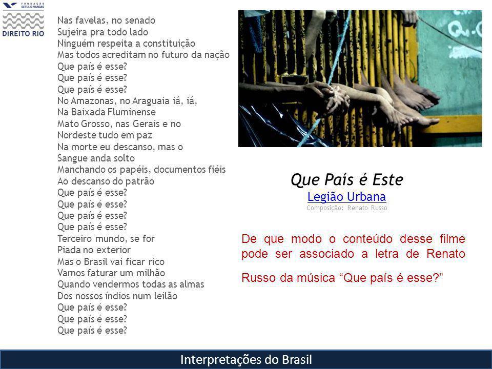 Que País é Este Interpretações do Brasil Legião Urbana