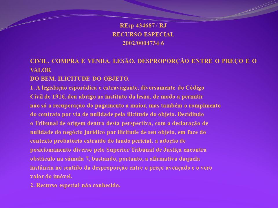 REsp 434687 / RJ RECURSO ESPECIAL 2002/0004734-6