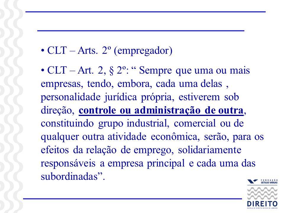 CLT – Arts. 2º (empregador)