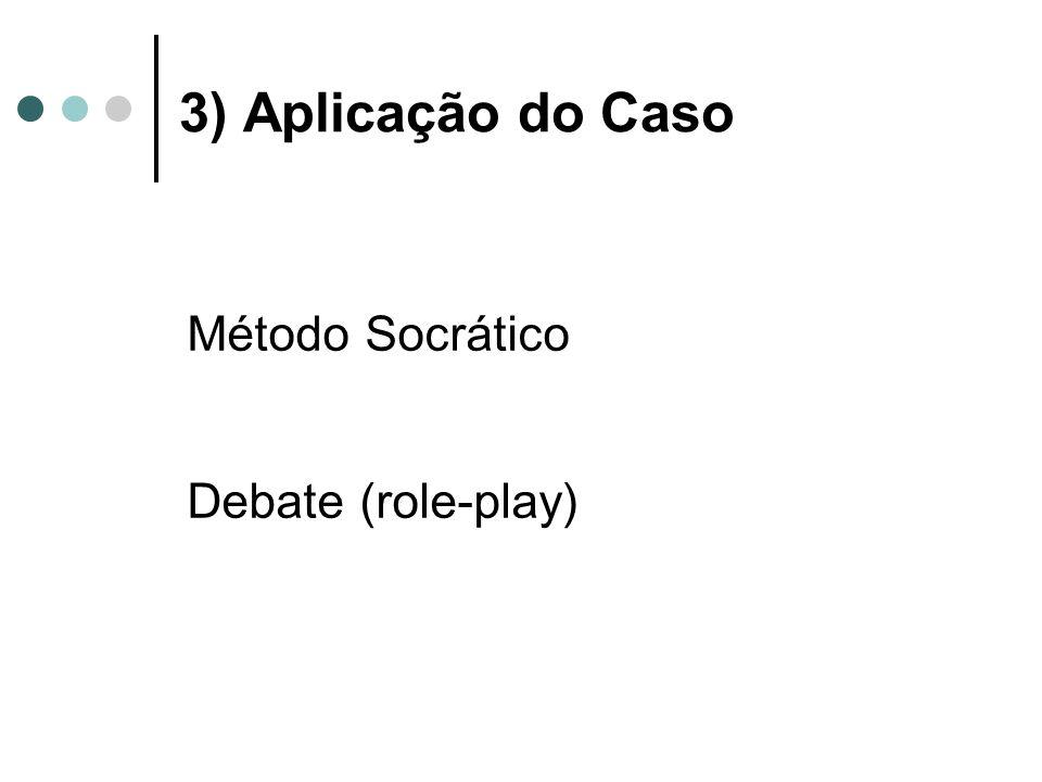 3) Aplicação do Caso Método Socrático Debate (role-play)