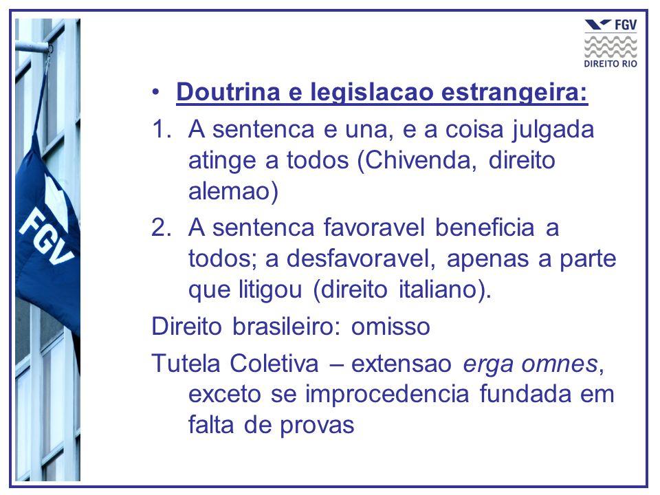 Doutrina e legislacao estrangeira: