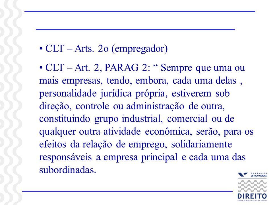 CLT – Arts. 2o (empregador)