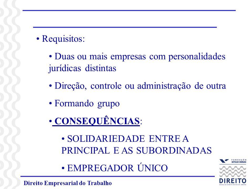 Duas ou mais empresas com personalidades jurídicas distintas