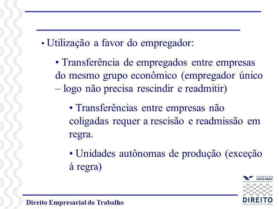 Unidades autônomas de produção (exceção à regra)