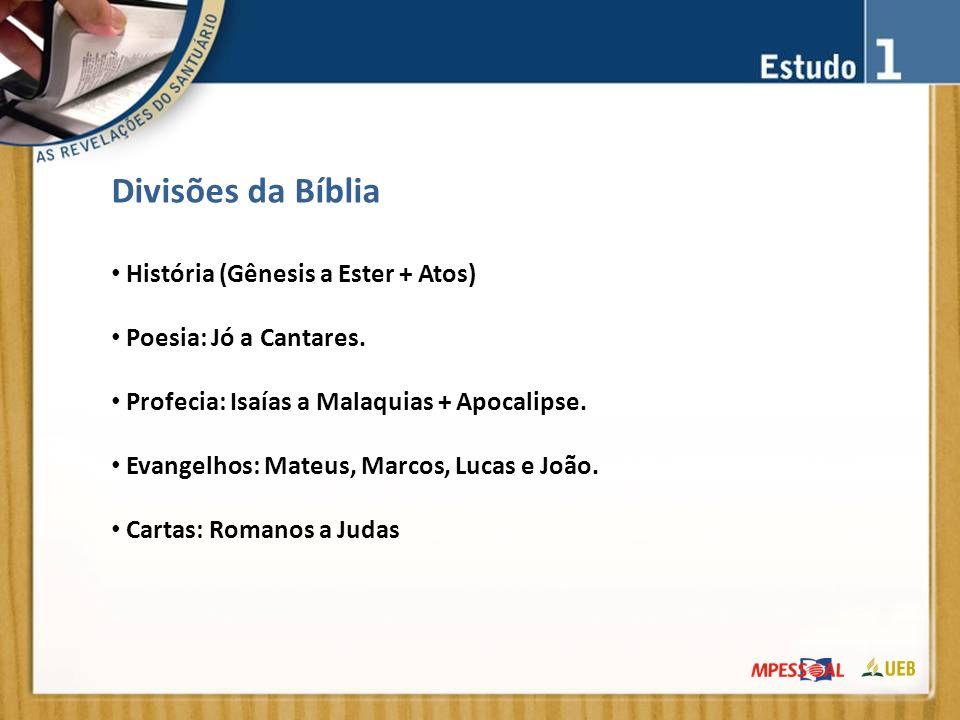 Divisões da Bíblia História (Gênesis a Ester + Atos)