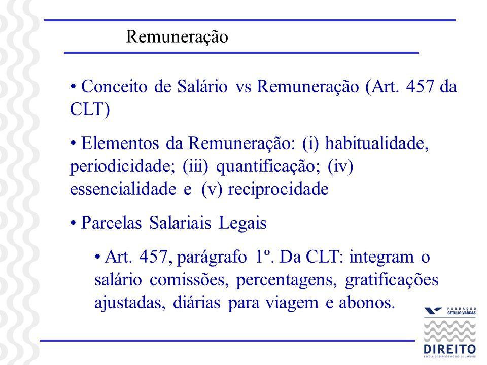 Remuneração Conceito de Salário vs Remuneração (Art. 457 da CLT)