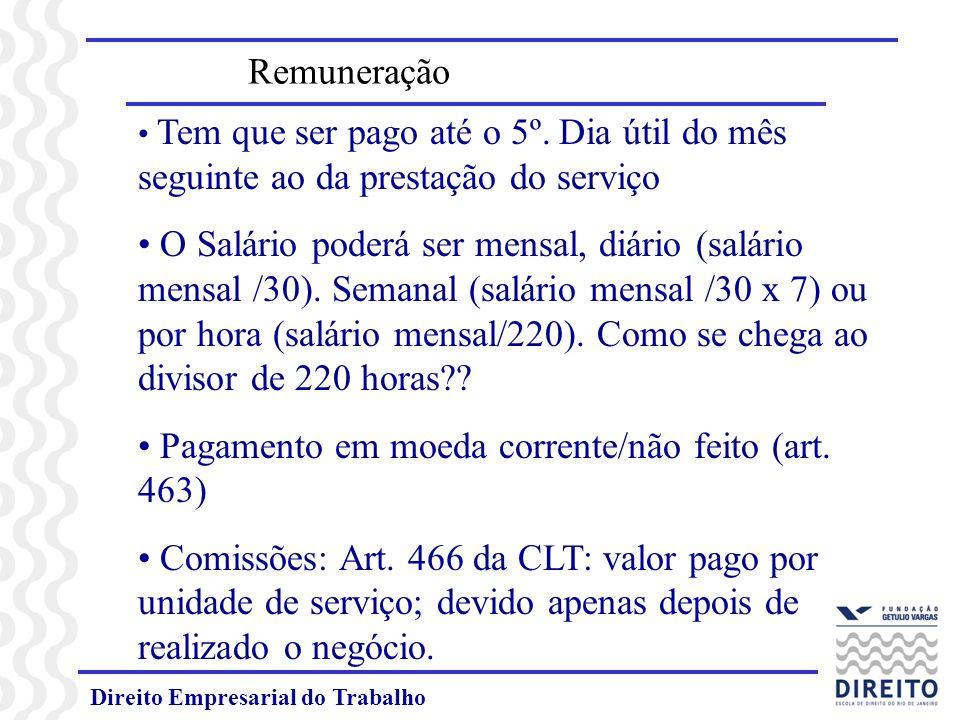 Pagamento em moeda corrente/não feito (art. 463)