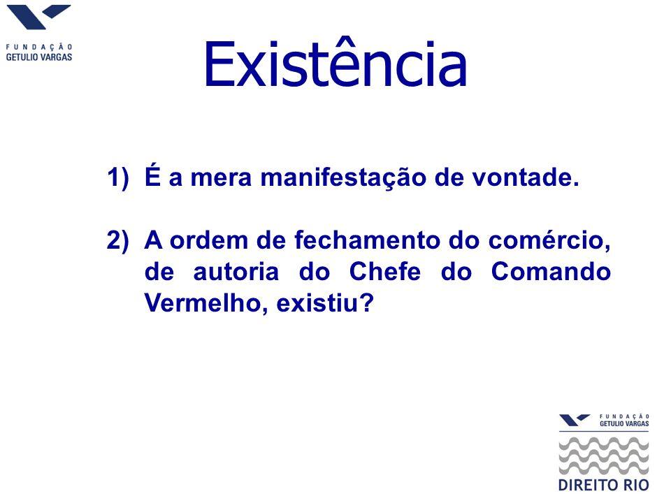 Existência É a mera manifestação de vontade.