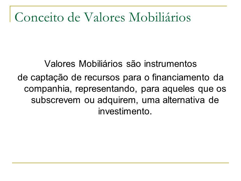 Conceito de Valores Mobiliários