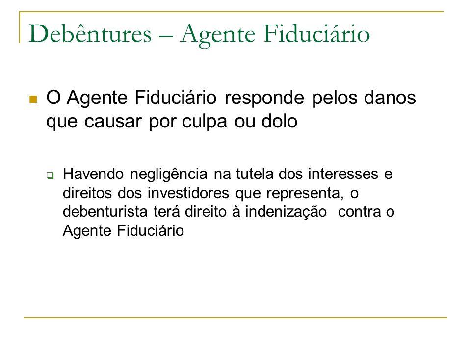 Debêntures – Agente Fiduciário