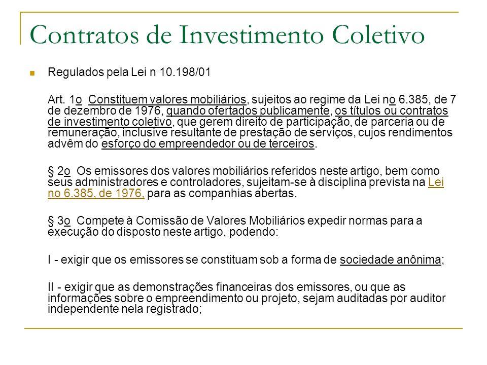 Contratos de Investimento Coletivo
