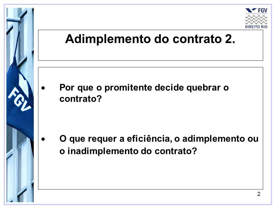 Adimplemento do contrato 2.