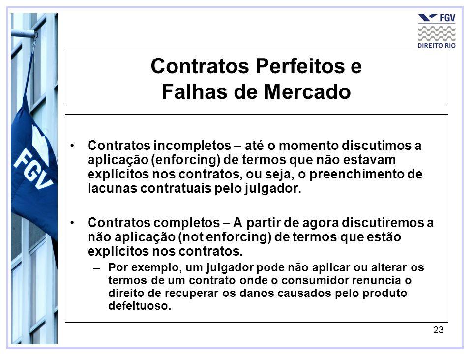 Contratos Perfeitos e Falhas de Mercado