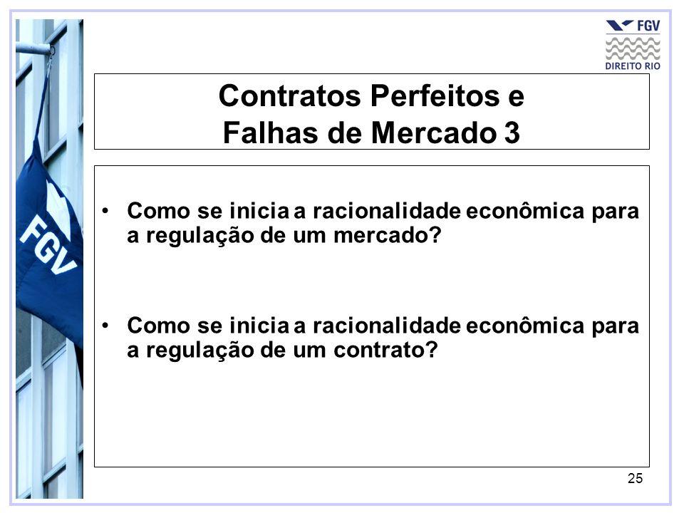 Contratos Perfeitos e Falhas de Mercado 3