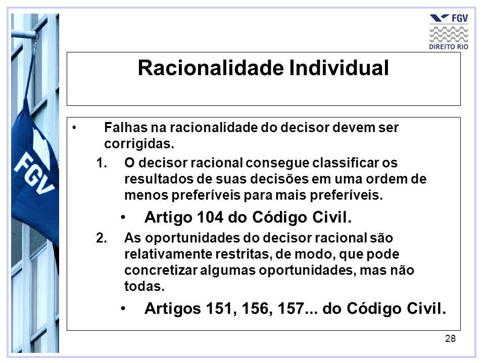 Racionalidade Individual