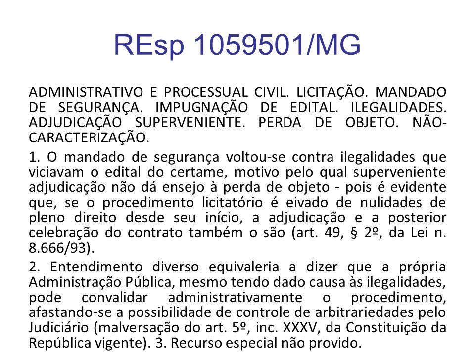 REsp 1059501/MG