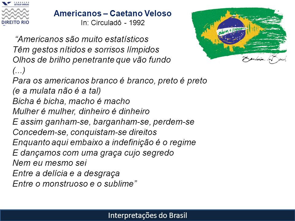 Americanos – Caetano Veloso