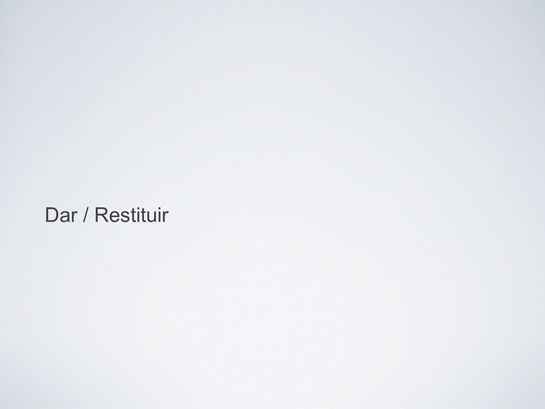 exs. Dar / Restituir