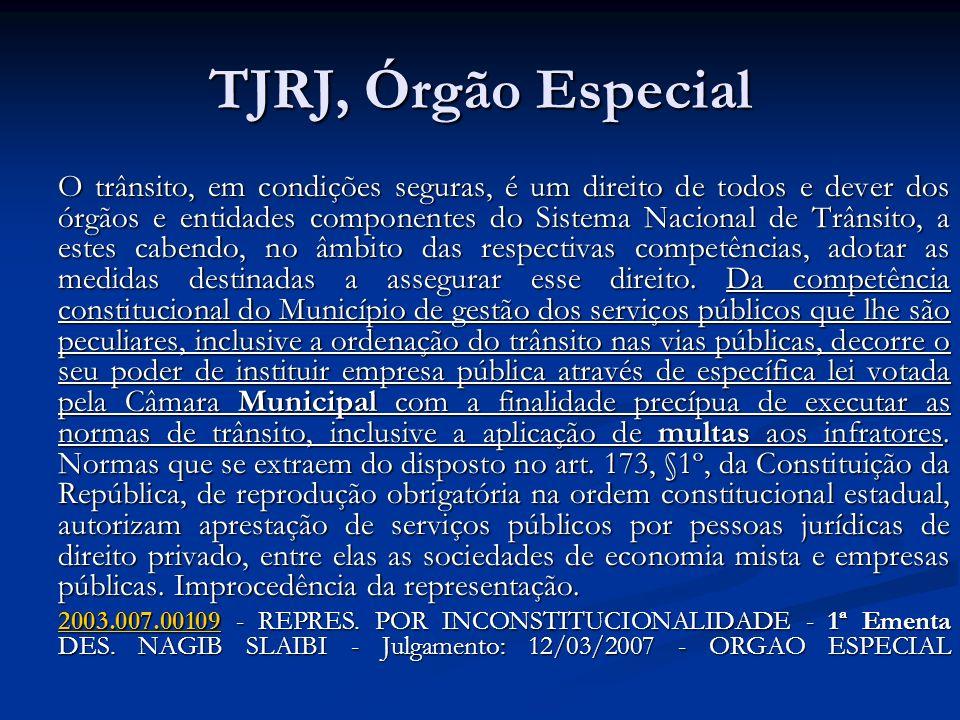 TJRJ, Órgão Especial