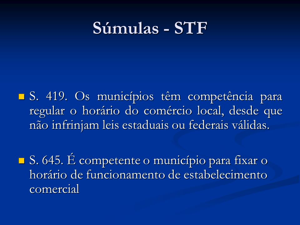 Súmulas - STF