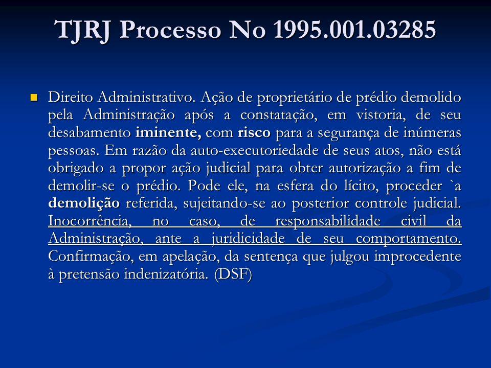 TJRJ Processo No 1995.001.03285