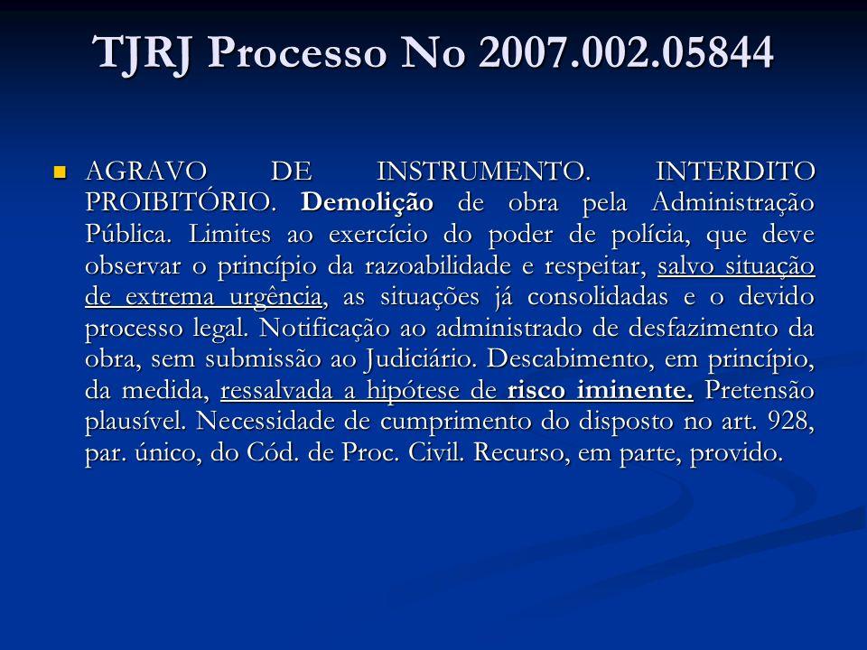 TJRJ Processo No 2007.002.05844