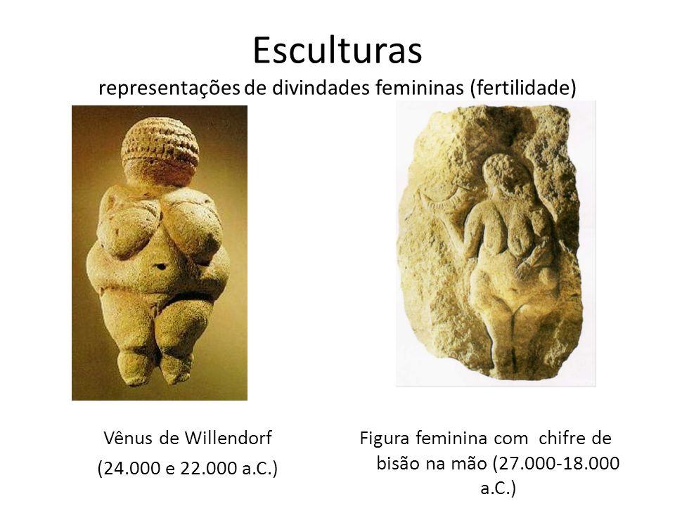 Esculturas representações de divindades femininas (fertilidade)