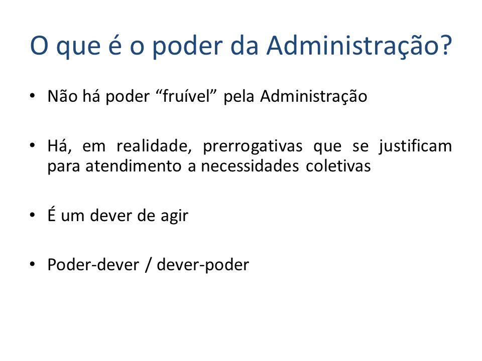 O que é o poder da Administração