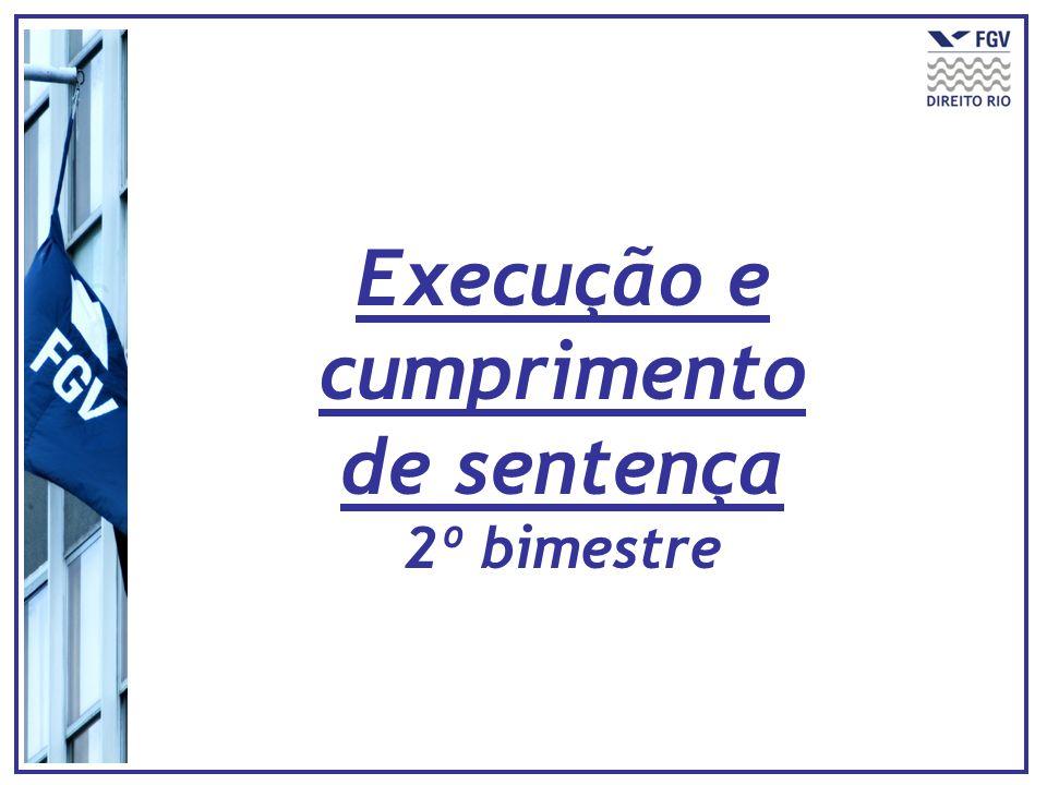 Execução e cumprimento de sentença