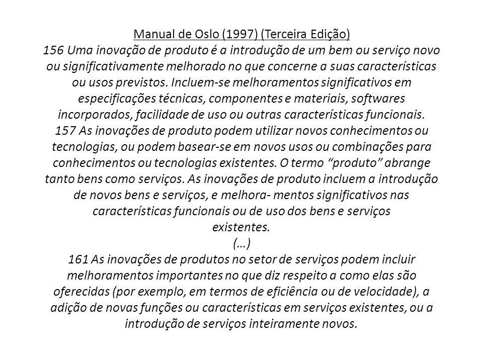 Manual de Oslo (1997) (Terceira Edição) 156