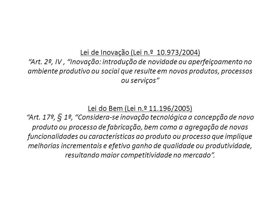 Lei de Inovação (Lei n. º 10. 973/2004) Art