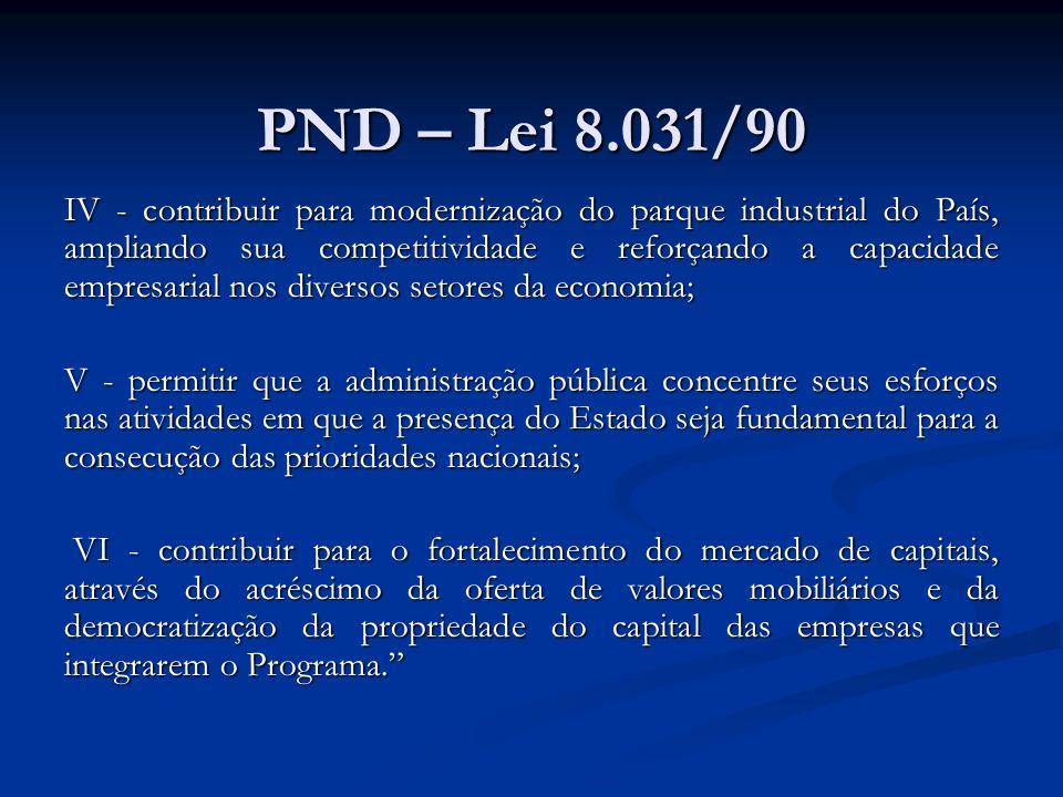 PND – Lei 8.031/90