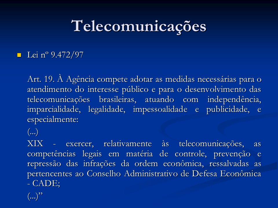Telecomunicações Lei nº 9.472/97