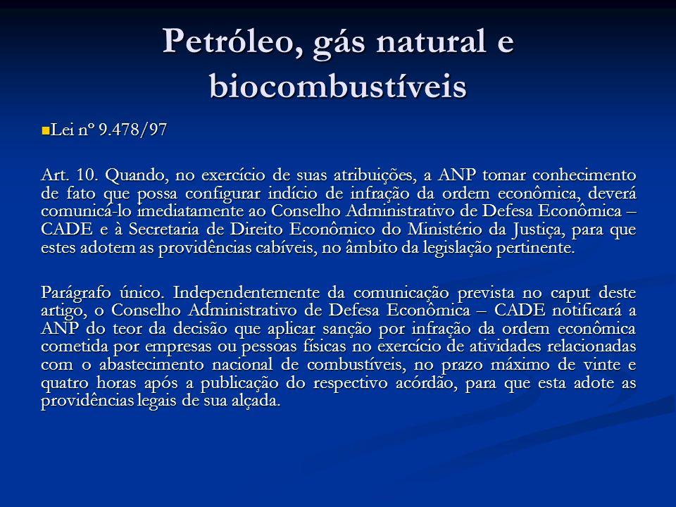 Petróleo, gás natural e biocombustíveis