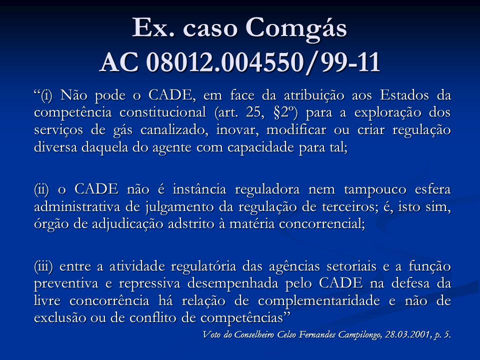 Ex. caso Comgás AC 08012.004550/99-11