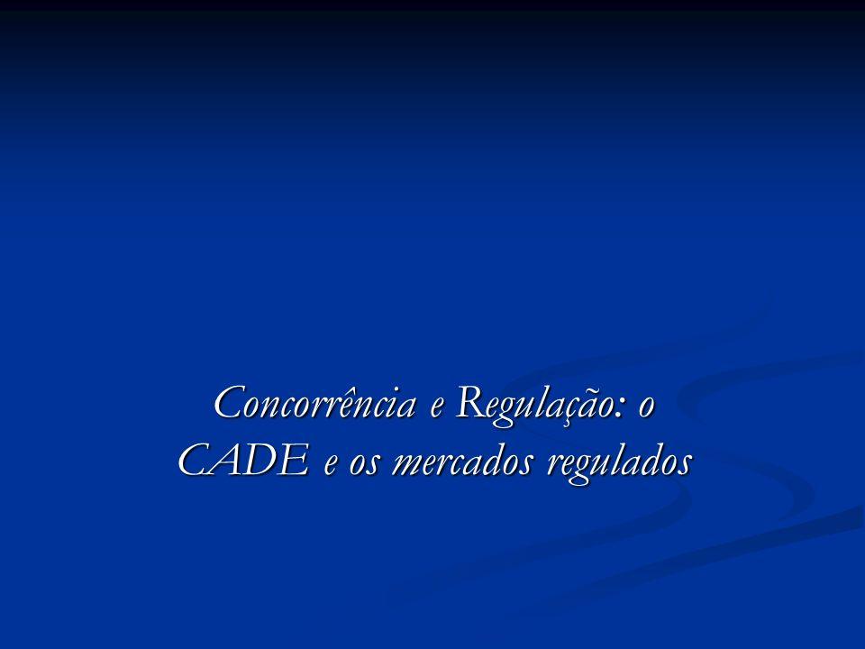Concorrência e Regulação: o CADE e os mercados regulados