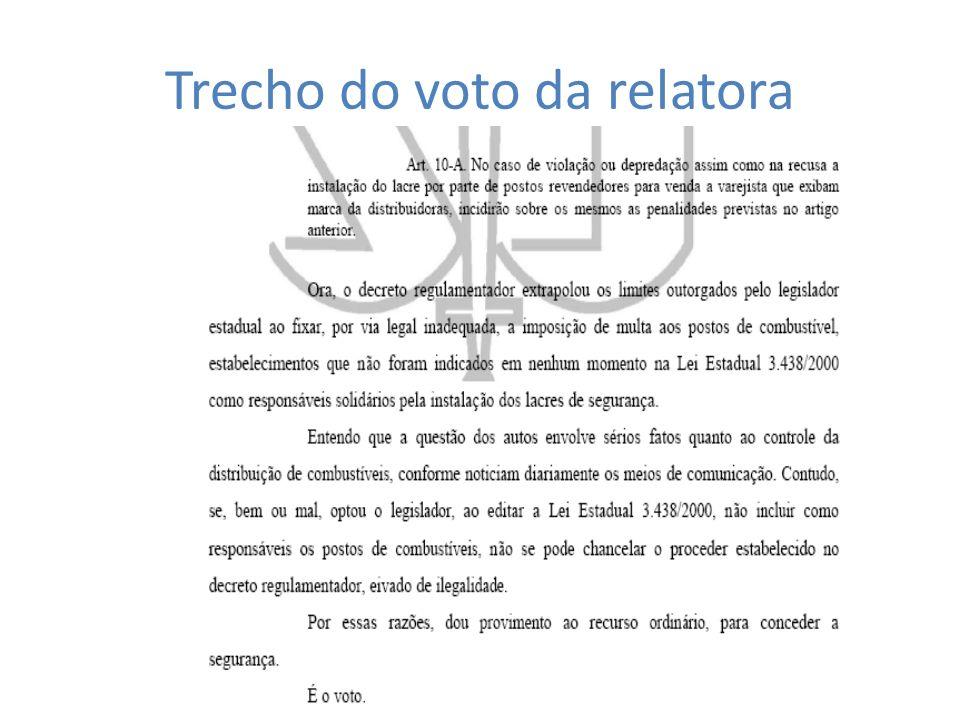 Trecho do voto da relatora
