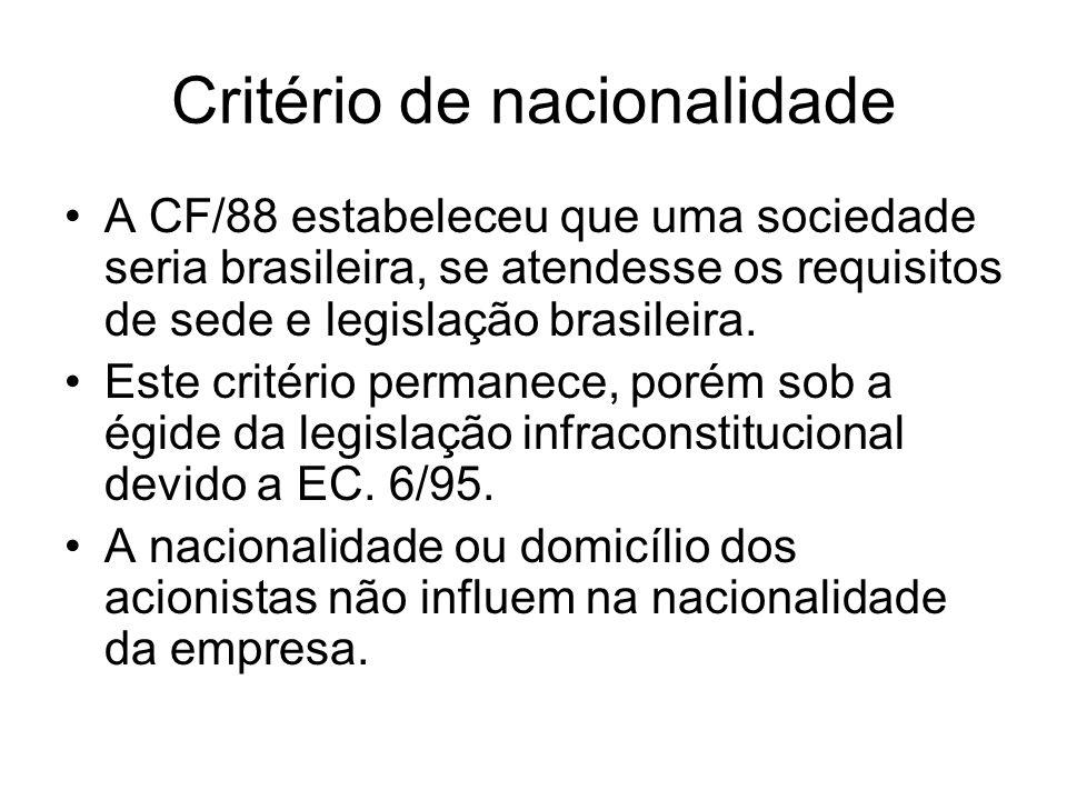 Critério de nacionalidade